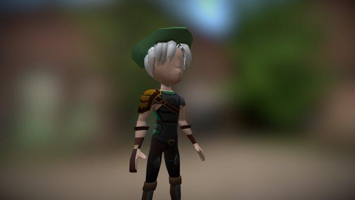 Archer Character 3D Model