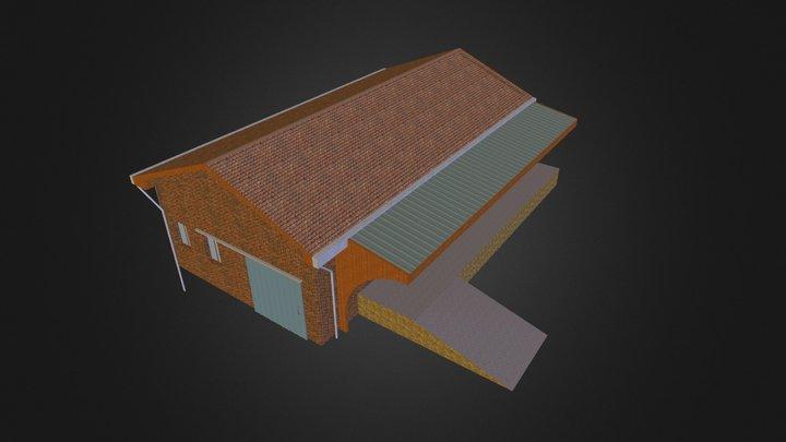 HANGAR DE GARE TYPE 2 3D Model