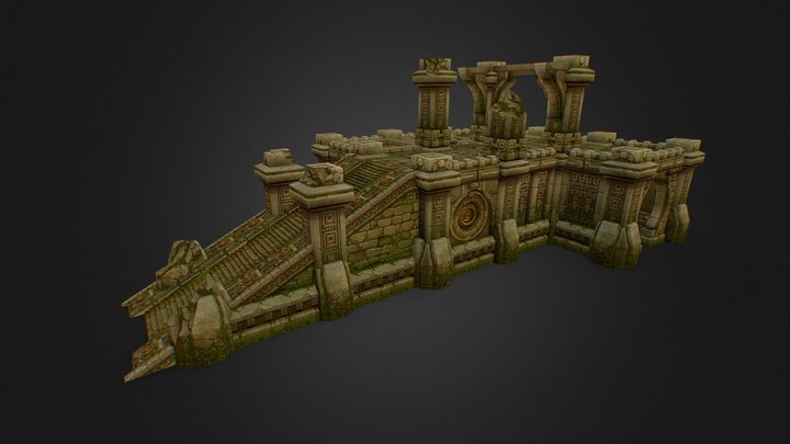 Ancient Ruins (Procedural Dungeon) 3D Model