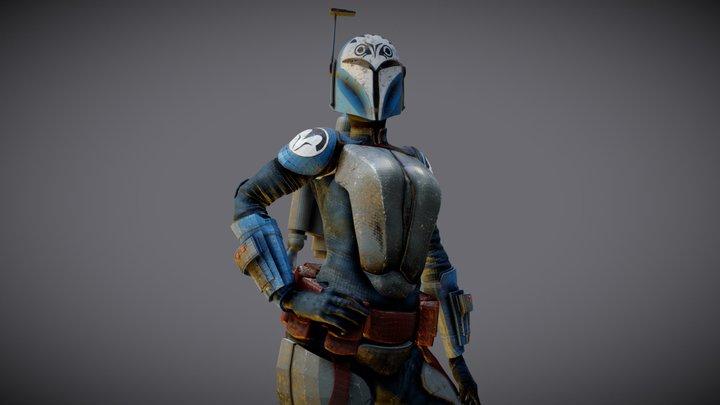 Bo Katan Kryze Mandalorian 3D Model