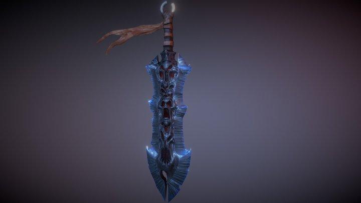 Darksiders War Chaoseater Sword 3D Model