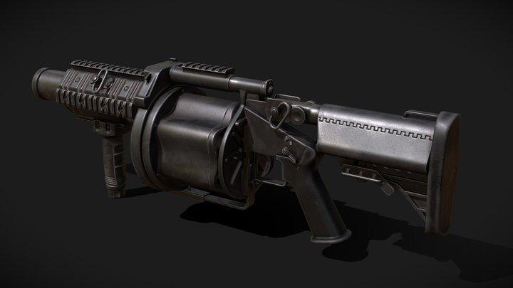 Milkor MLG - Rust 3D Model