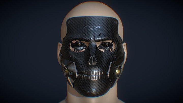 Diehardman mask WIP 3D Model