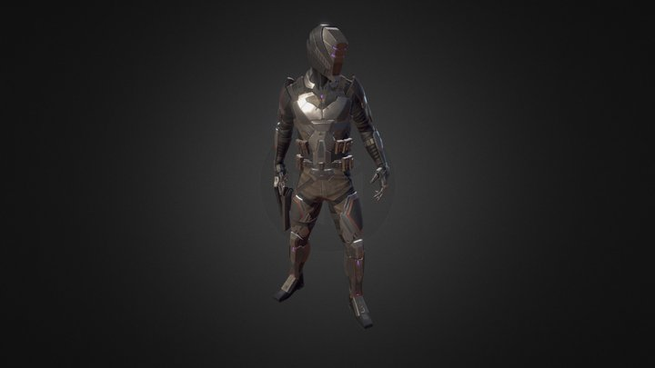 Aeolus Biker 3D Model