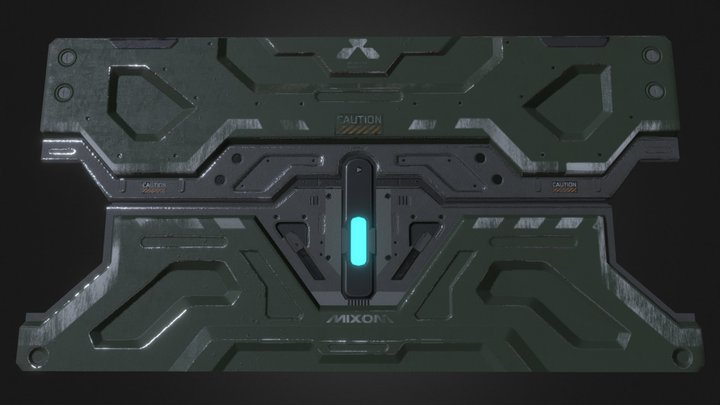 DOOM: Mixom door 3D Model