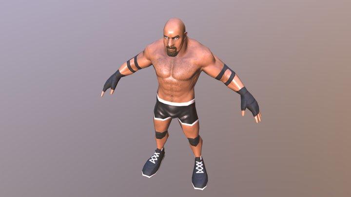 Cartoon fighter Goldrerg 3D Model
