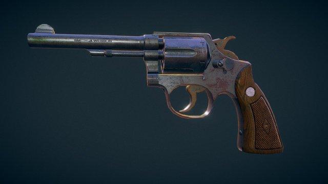 S&W Revolver 3D Model