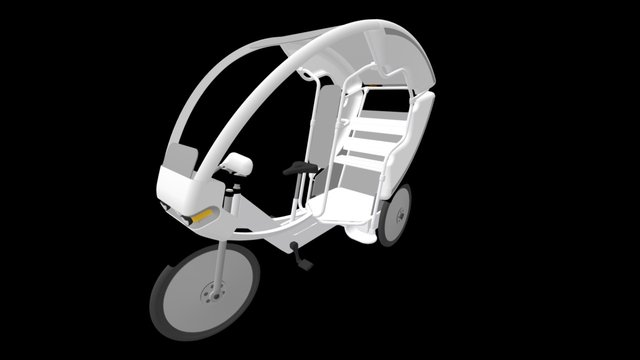 ADB Rickshaw 3D Model