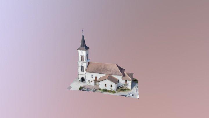Eglise d'Arbérats-Sillègue 3D Model