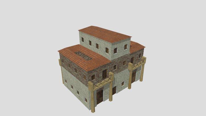 Low Poly Roman Insula 2 (WIP) 3D Model