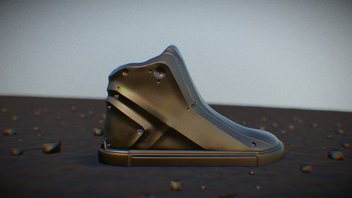 A pair of sneakers 3D Model