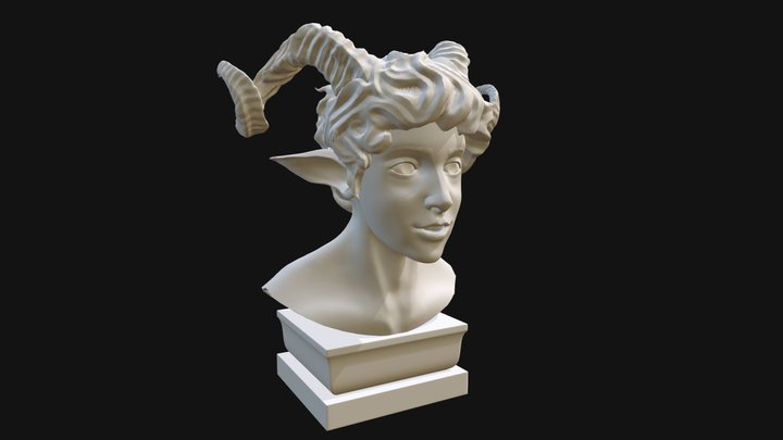 Fawn Study 3D Model