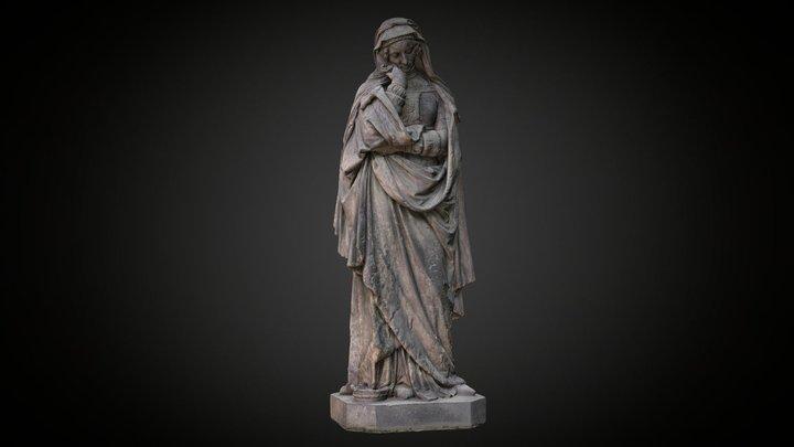 Sculpture »Margarete« by Adolf von Donndorf 3D Model