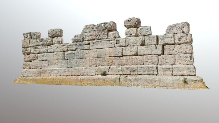 Leaning tower of the ancient port in Marseille 3D Model