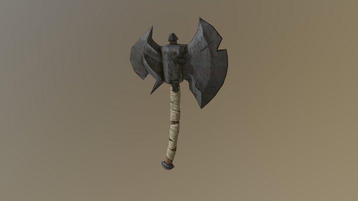 old_battleaxe_lowpoly 3D Model