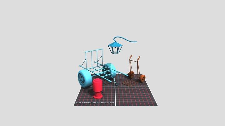 Props_Scene1DAE14_Misseeuw_Maxim_PropsScene 3D Model