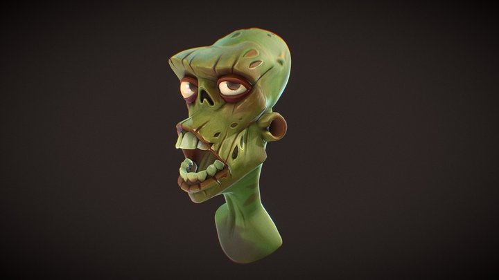 Zombie (Concept by Max Grecke) 3D Model