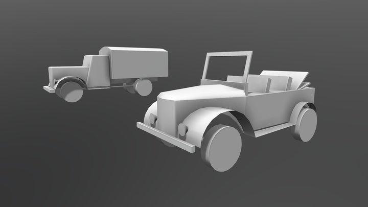 XYZ Homework_02 - blockings rework 3D Model