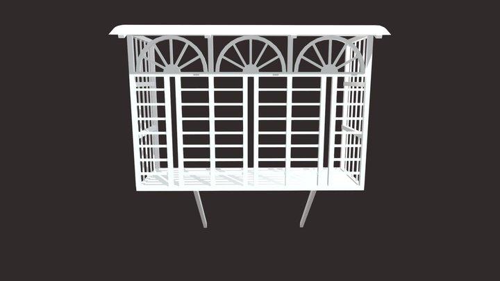 Iron Bar Window-5 3D Model