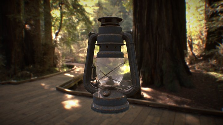 Lamp Tutorial - Painted Texture Assignment 3D Model