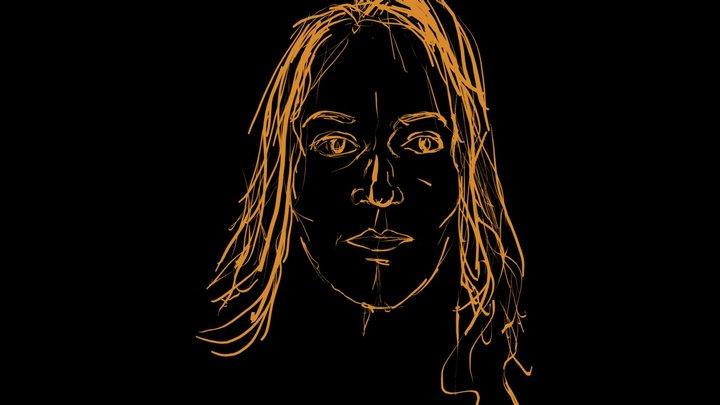"""Portrait #1 for """"The Masks I Wear"""" 3D Model"""