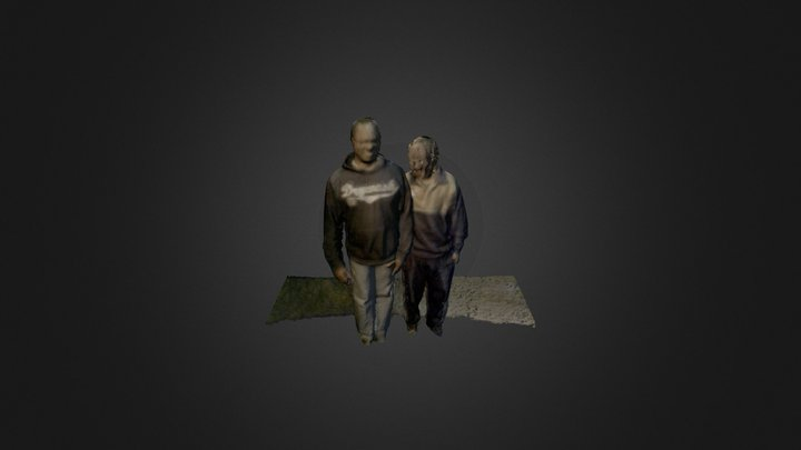Sam and colin in colour 3D Model