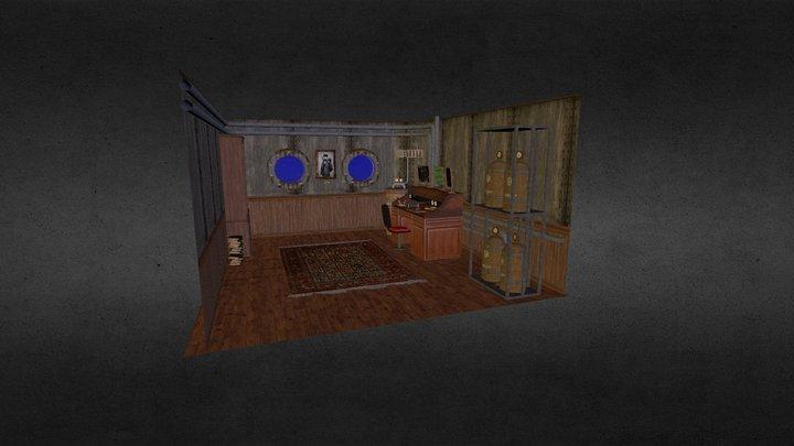 Steampunk Control Room 3D Model