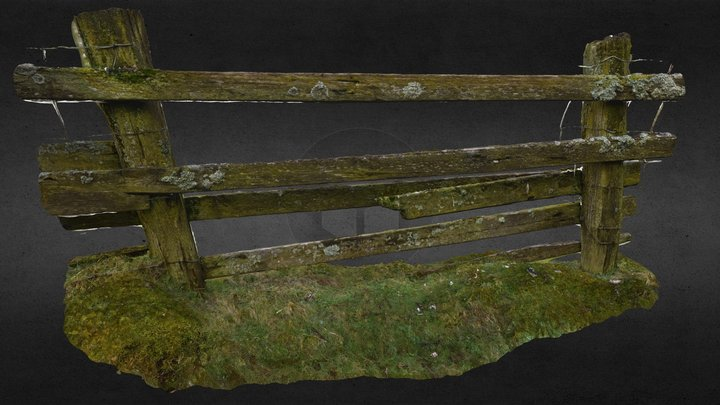 Rosedale Railway Fence 3D Model