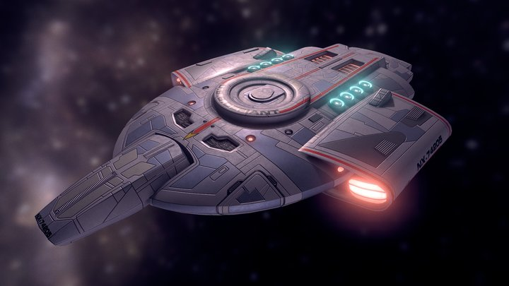 Star Trek Deep Space 9: U.S.S. Defiant 3D Model