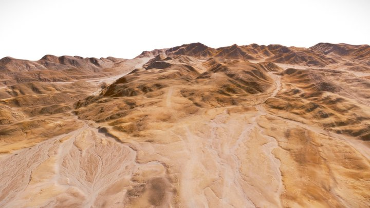 Mad Max: Fury Road Location, Namibia 3D Model
