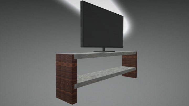 Fernsehtisch V1 3D Model