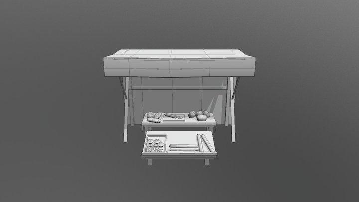 Puesto de pan 3D Model