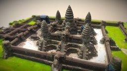 Angkor Wat Temple Cambodia 3D Model