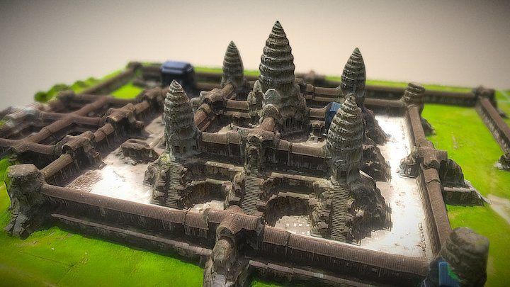 Angkor Wat Temple Cambodia 3D Model