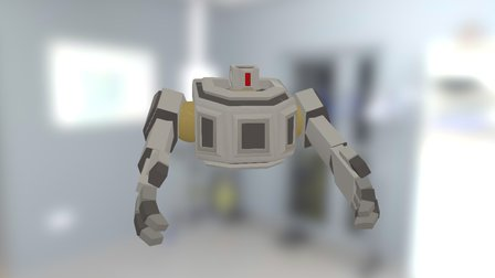 Worker Robot Low Poly 3D Model