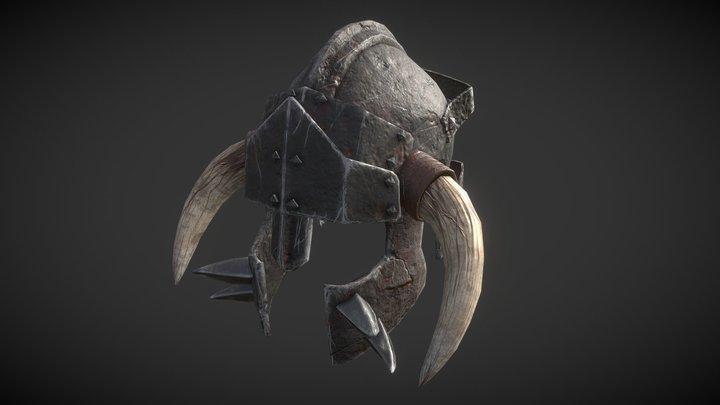 Orcish Helmet 3D Model