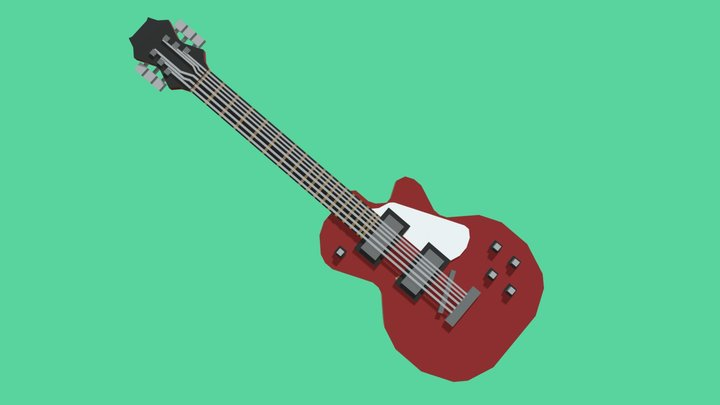 Electric Guitar / Low-Poly / Minecraft 3D Model
