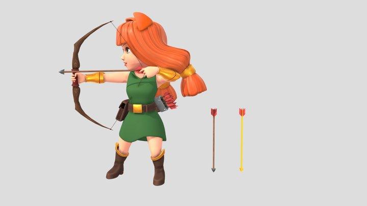 弓手anime 3D Model