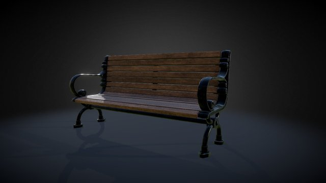 Bench Park Med 3D Model