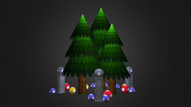 Forest Props 3D Model