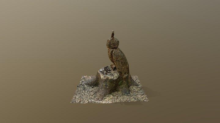 Wooden Owl / Holzeule 3D Model