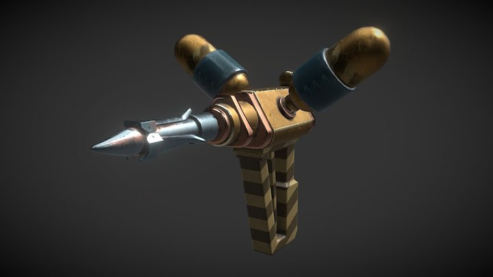 Steam Punk Grappling Gun 3D Model