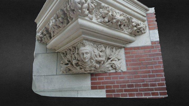 Corner Ornement - building next to Rijk Museum 3D Model
