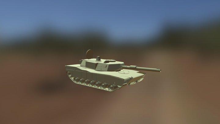 Abrams Tank Un-Textured 3D Model