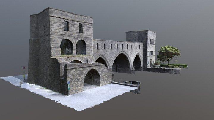 Tournai, Pont des trous, Belgium 3D Model