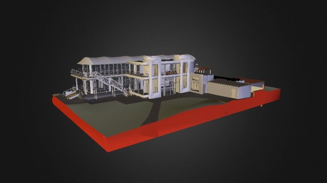 Phyllis Court Riverside Pavilion 3D Model
