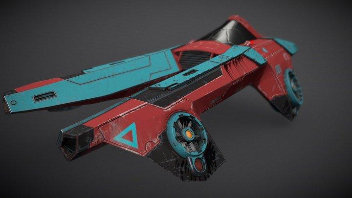 Racing bolid 3D Model