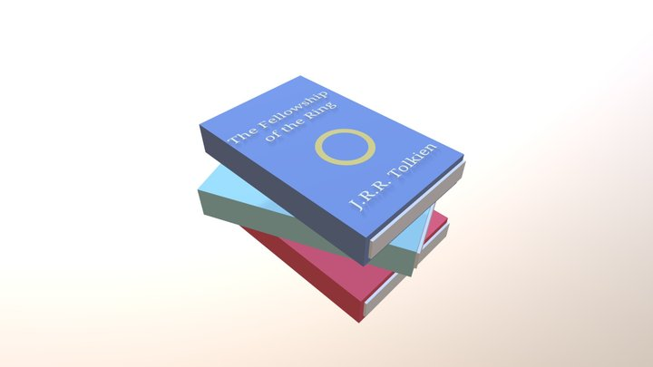 Simple stack of books 3D Model