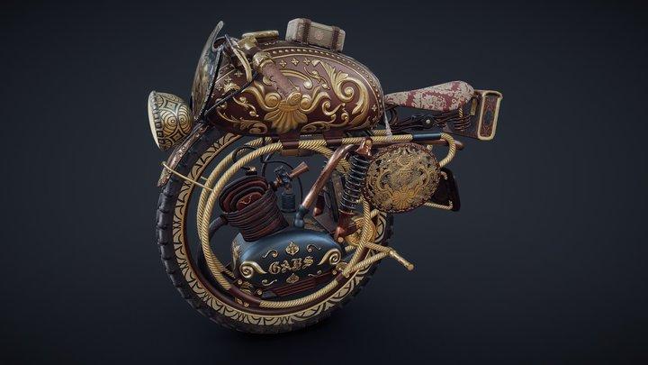 Victorian Monobike 3D Model