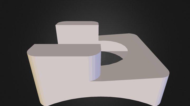squat stool 3D Model